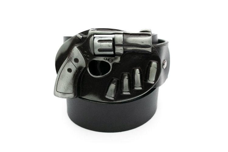 Δερμάτινη αντρική ζώνη ''The gun'' μαύρη