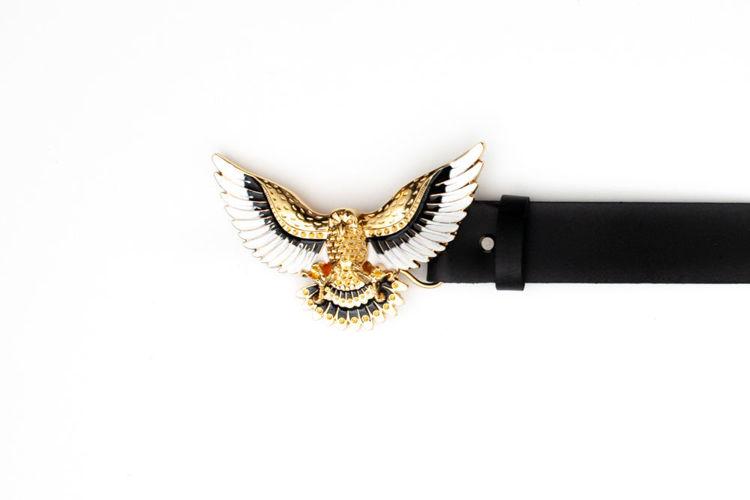 Δερμάτινη γυναικεία ζώνη ''The Eagle'' μαύρη
